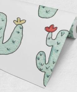 Kids Watercolor Cactus Roll