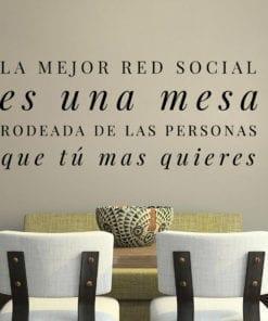 Vinilos Decorativos Con Textos La Mejor Red Social