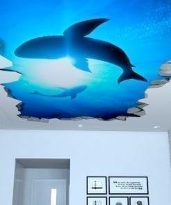 Sharks 3D Effect Ceiling Decals