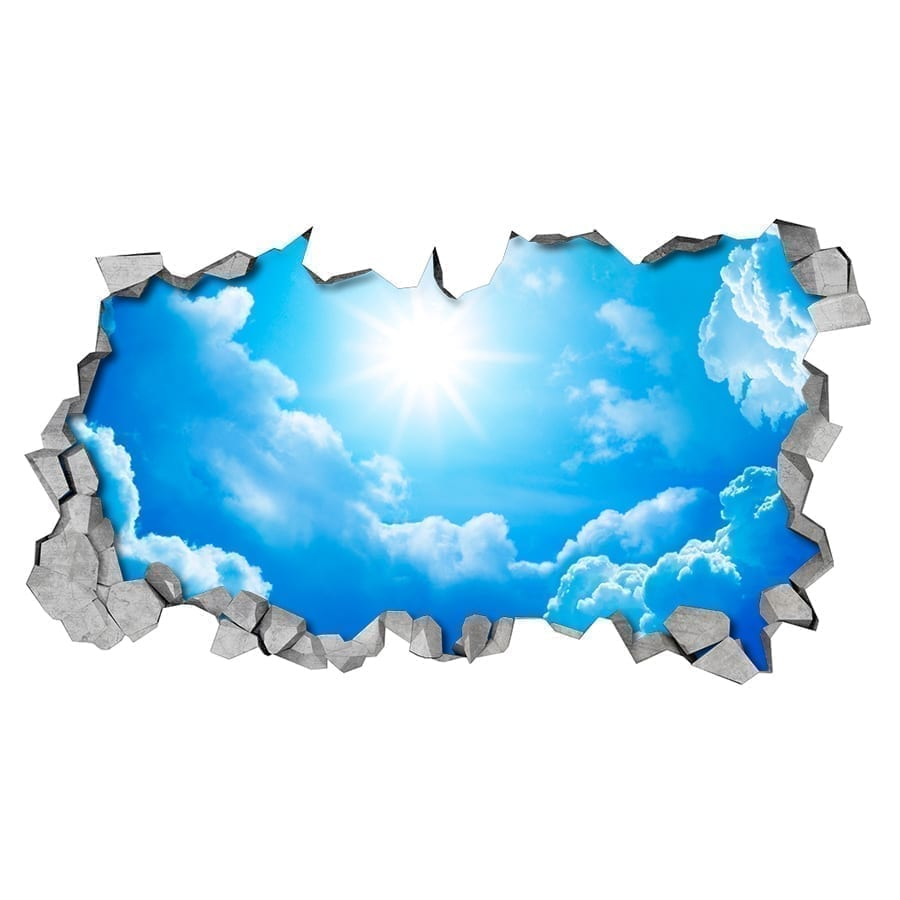 Sky 3d Effect Ceiling Decals Moonwallstickers Com