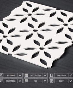 Fleur Panneaux 3D