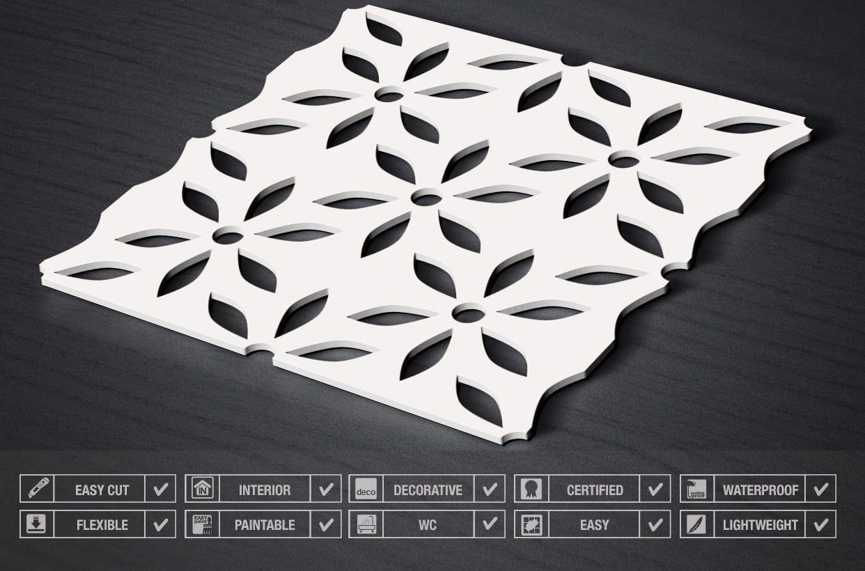 3d Panels Flower Moonwallstickers Com