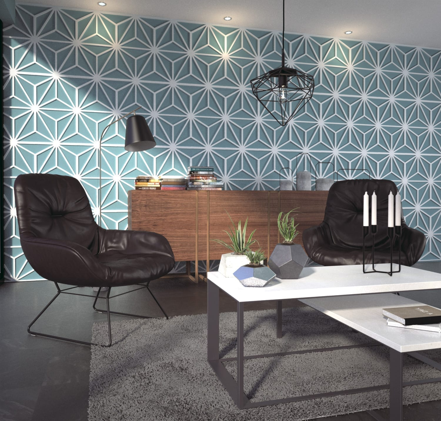 3d wall panels mid century for 3d wall covering