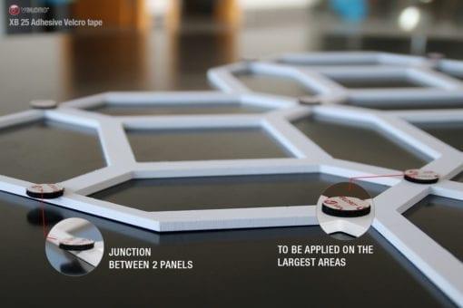 Quadristar 3D Wall Panels - Velcro Details