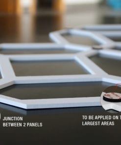 Filigree Heart 3D Wall Panels - Velcro Details