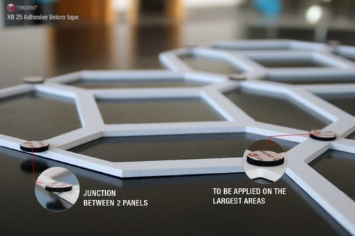 Moroccan Pattern 3D Panels - Velcro Detail