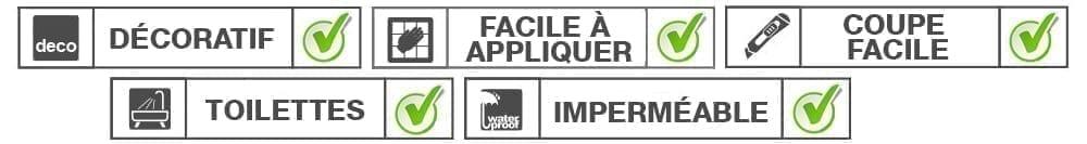 Approuvé Stickers Carrelage