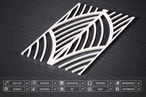 Art Déco Leaves 3D Panels - Specs