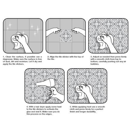 Brasilia Tile Stickers - Application