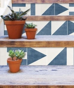 Brasilia Tile Stickers - Stairs