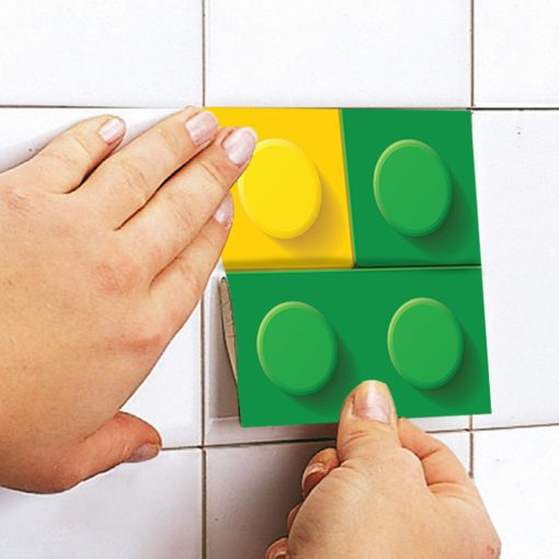 Bricks Tile Stickers - Apply