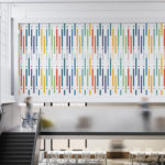 Colorful Art Design Line Repositionable Wallpaper