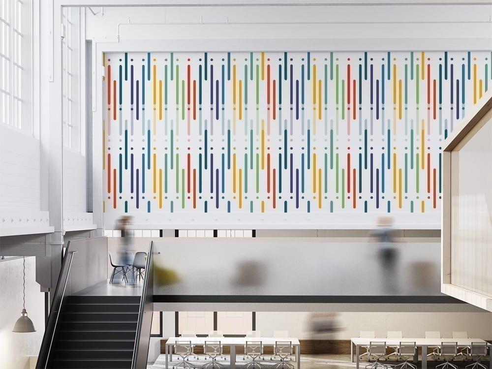 Colorful Art Design Line Repositionable Wallpaper