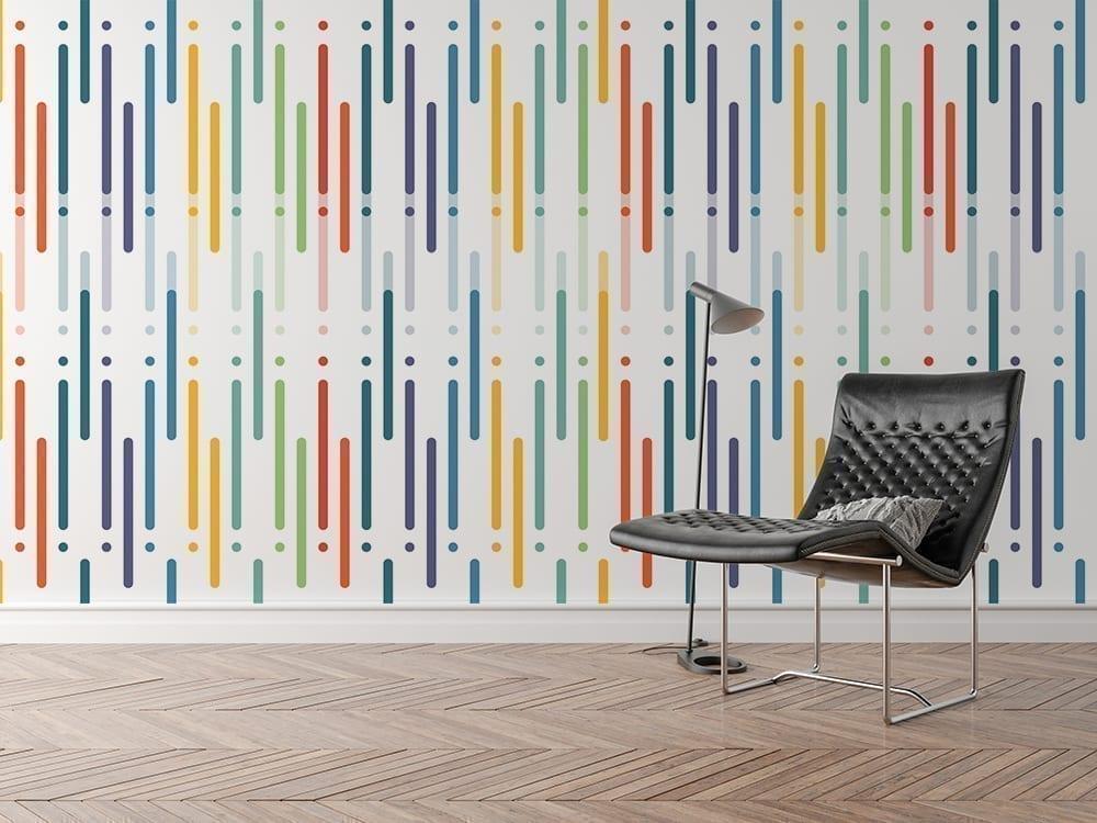 Colorful Art Design Line Repositionable Wallpaper-2