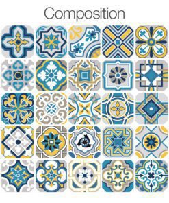 Colorful Tile Decals - Composition