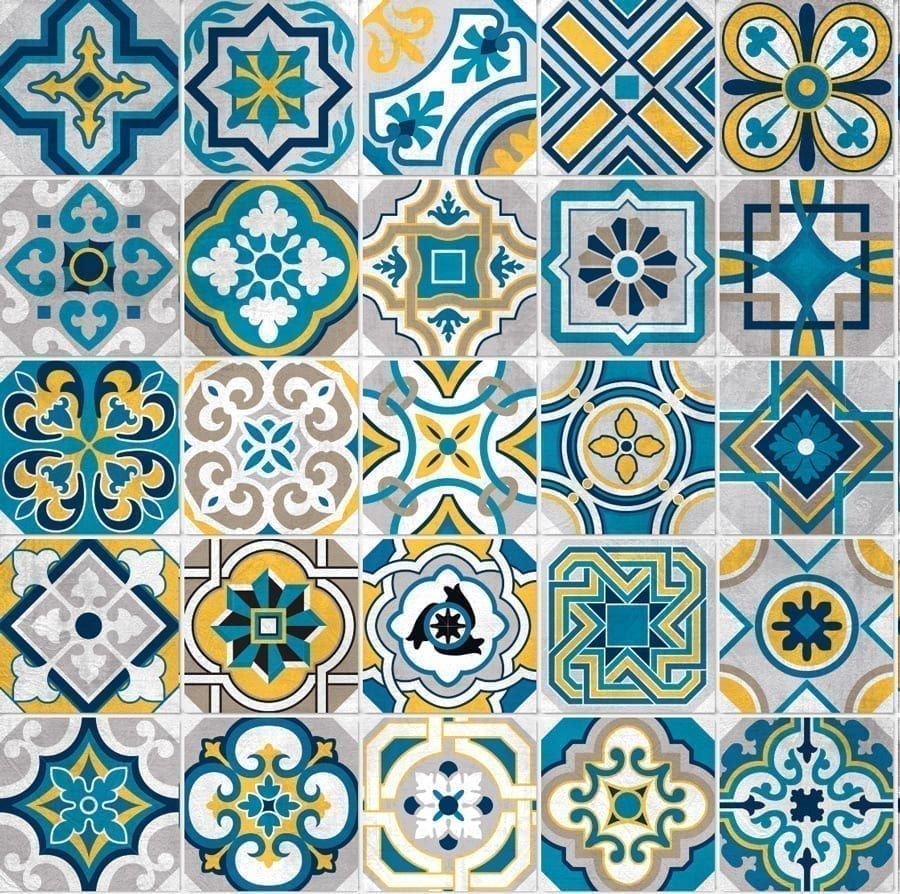 Colorful Tile Decals (Pack of 25)