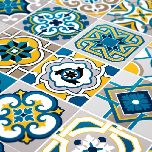 Colorful Tile Decals - Detail