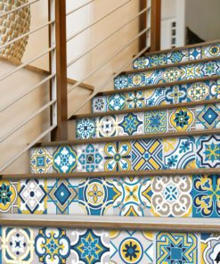 Colorful Tile Decals - Stairs