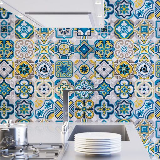 Colorful Tile Decals - Wall