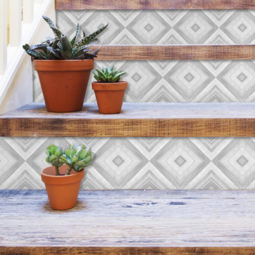 Crayon Tile Art - Stairs
