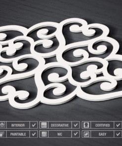 Filigrane Cœur Panneaux 3D