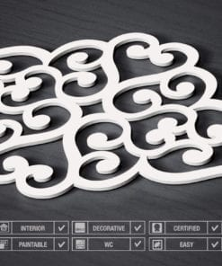 Corazón Filigrana Paneles 3D