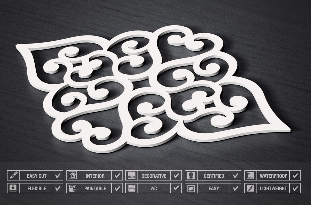 Filigree Heart 3D Wall Panels - Specs