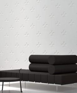 Fleur de Lis Bas Relief Panneaux 3D