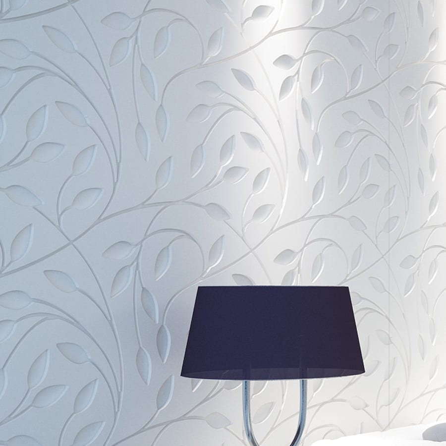 Flower Wall Paneling : Floral bas relief d wall panels moonwallstickers
