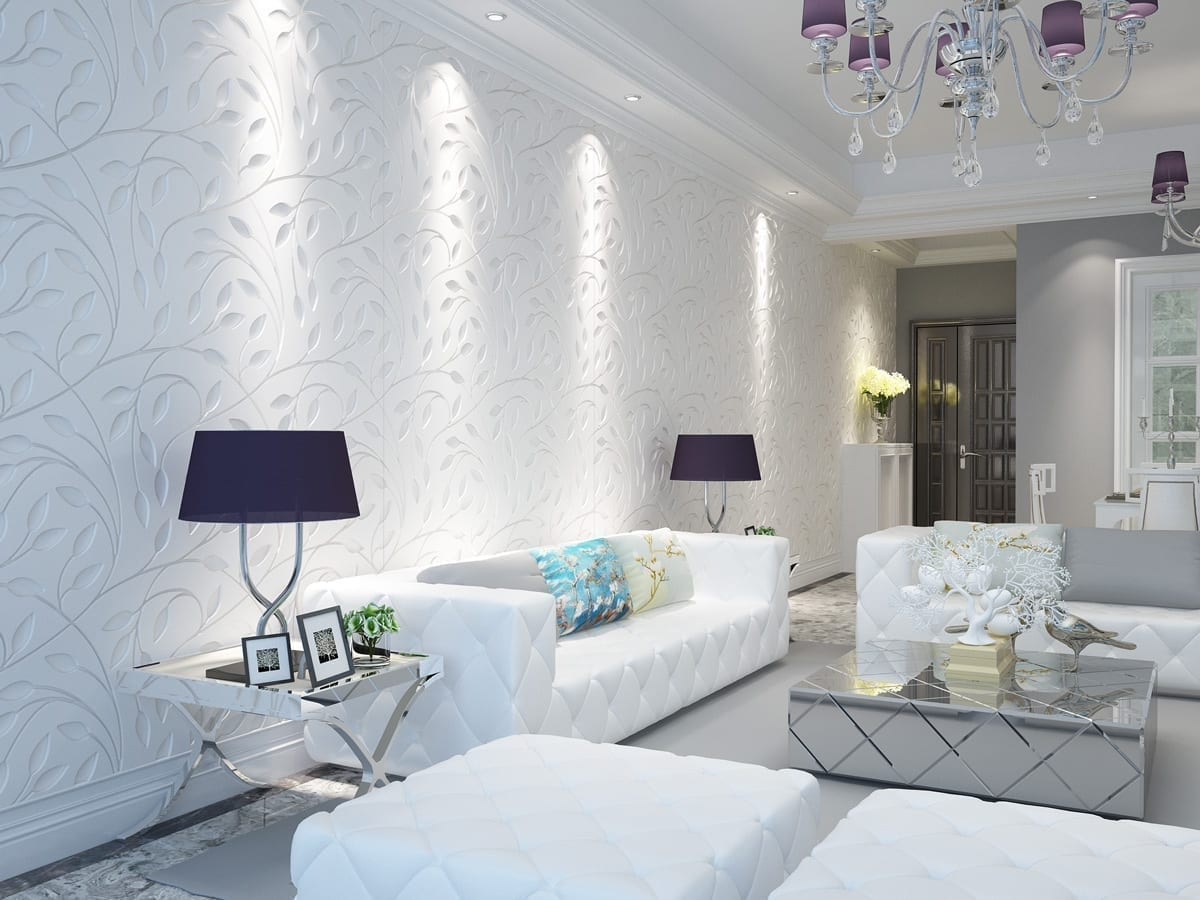 Floral bas relief 3d wall panels for 3d wall covering