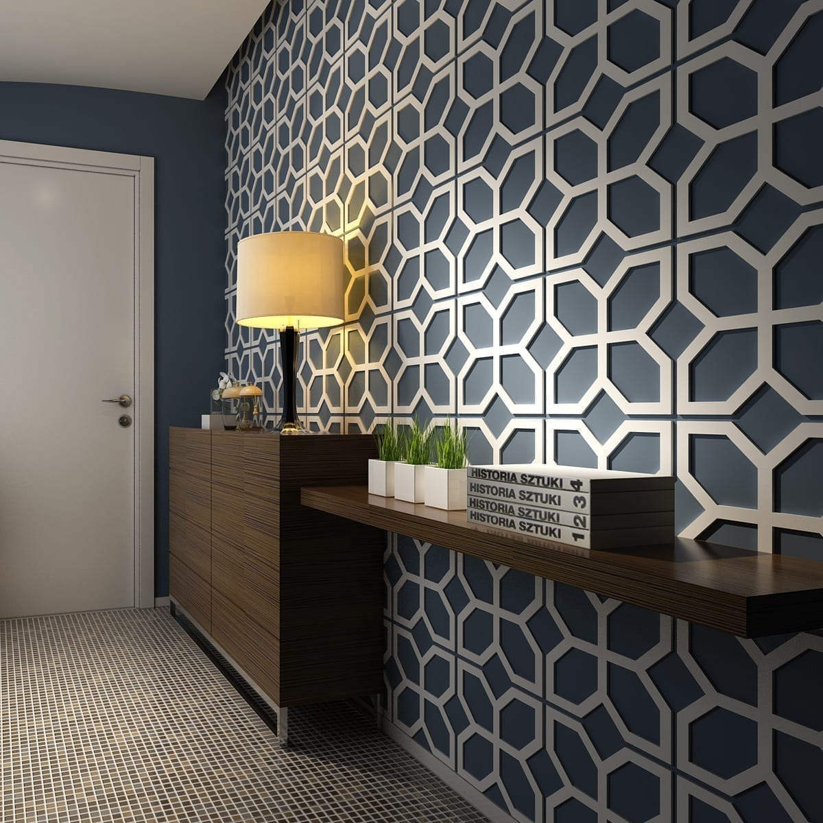 Flowers 3d wall panels for 3d wall covering