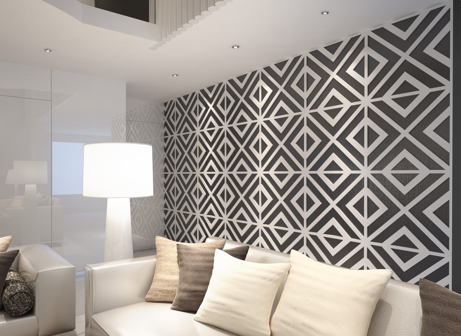 geometric art 3d panels. Black Bedroom Furniture Sets. Home Design Ideas