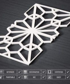 Geometric Oriental 3D Wall Panels - Specs
