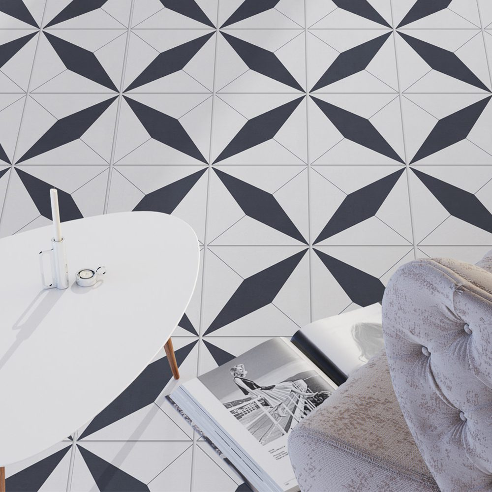 Geometrical Moroccan Tiles Floor
