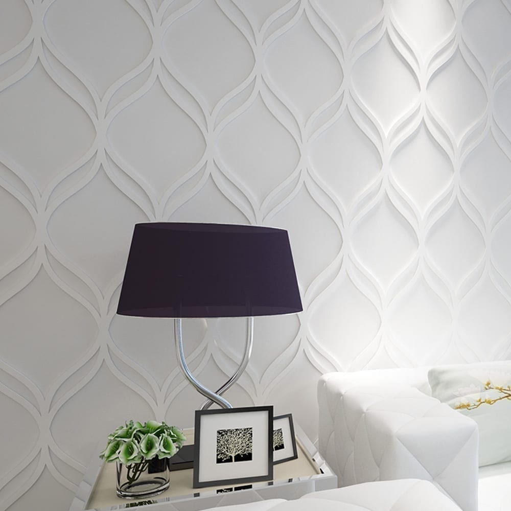 Interlaced 3d wall panels for 3d wall decoration panel