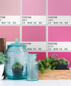 Pantones Pink Tiles Stickers Pack Of 56