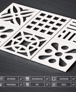 Mitte des Jahrhunderts 3D Paneele