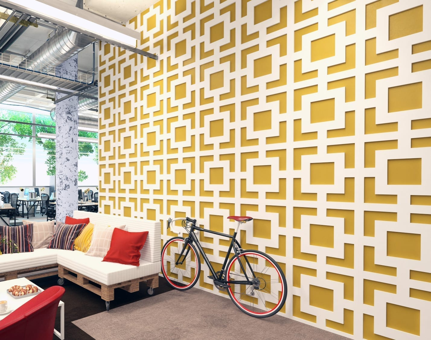 Mid Century Modern 3D Wall Panels - Moonwallstickers.com