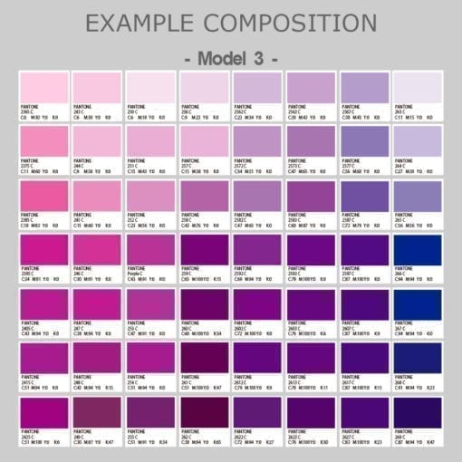 Pantones Purple Tiles Stickers - Composition