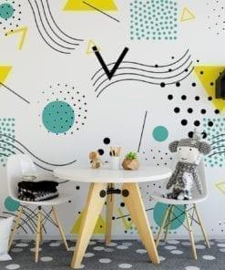 Pop Art Design Repositionable Wallpaper