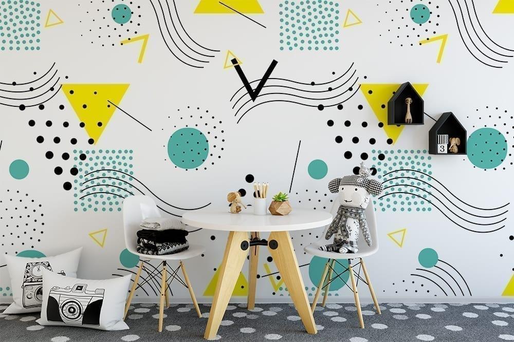 Pop Art Design Repositionable Wallpaper - Moonwallstickers.com