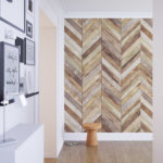Harringbone Wood Chevron Wallpaper