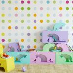 Nursery Wallpaper Colored Dots