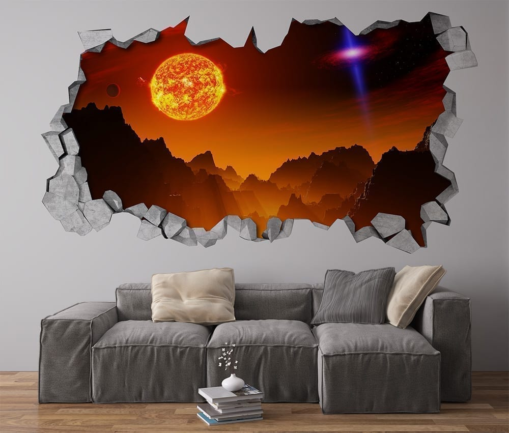 alien sun wall decor. Black Bedroom Furniture Sets. Home Design Ideas