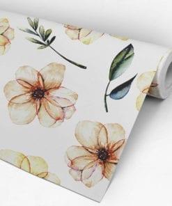 Baby Nursery Watercolor Flower Wallpaper Roll