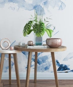 Blue Self Adhesive Wallpaper