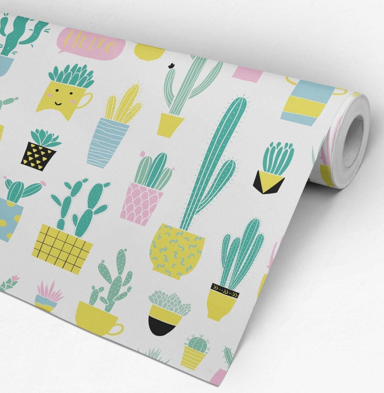 Cactus Nursery Wallpaper Roll