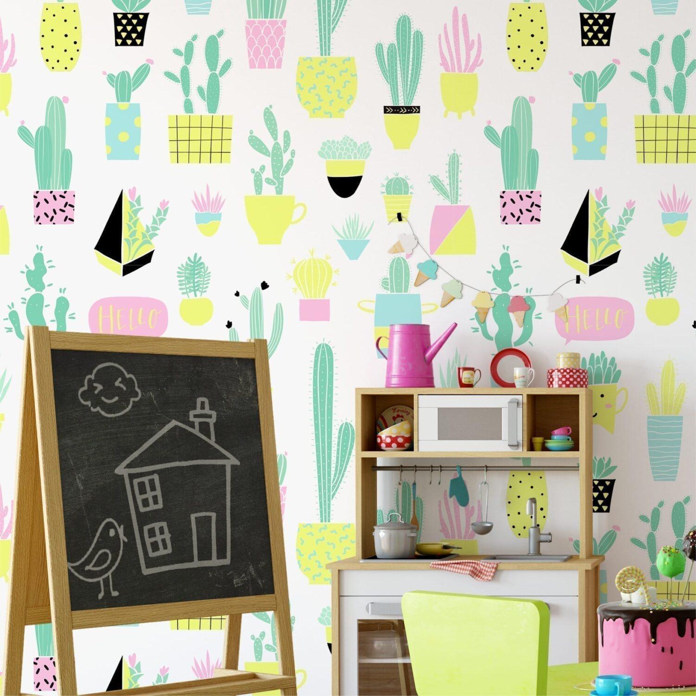 Kaktus Kindergarten Tapete