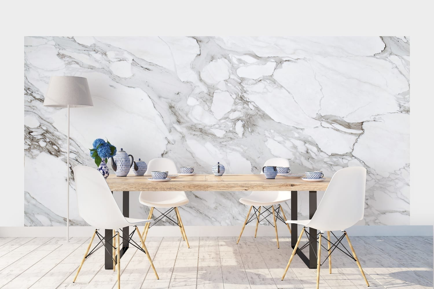 Wall Mural Stickers Carrara Marble Wallpaper Moonwallstickers Com