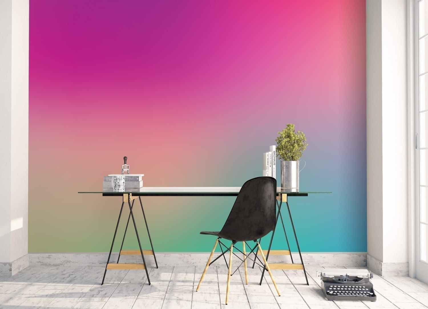 Chromatic Gradients Wall Art Moonwallstickers Com